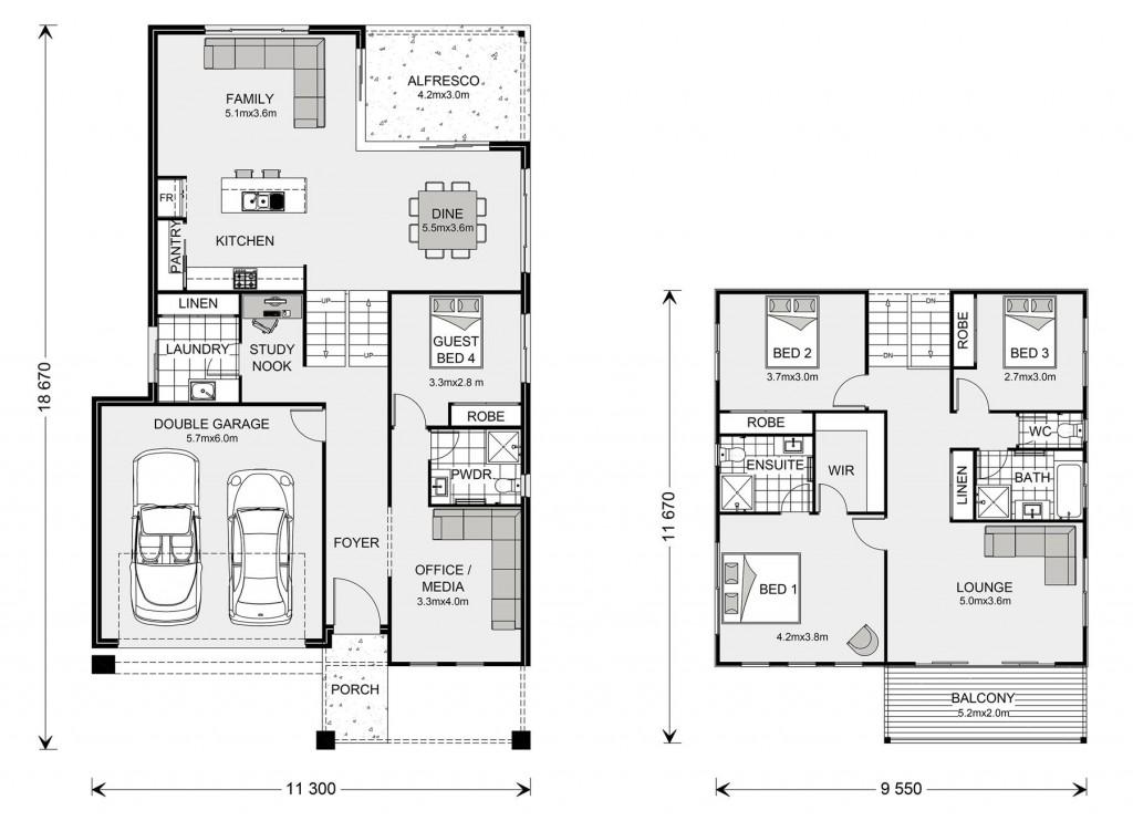 Seaview 276 Split - Split Level Series Floorplan