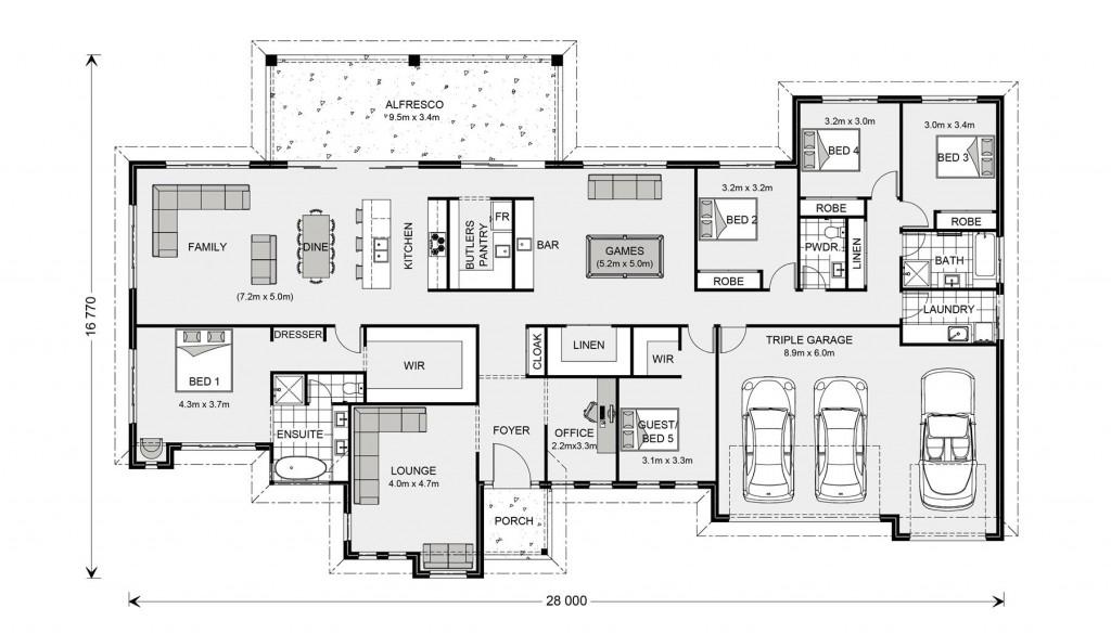 Wentworth 364 - Prestige Series Floorplan