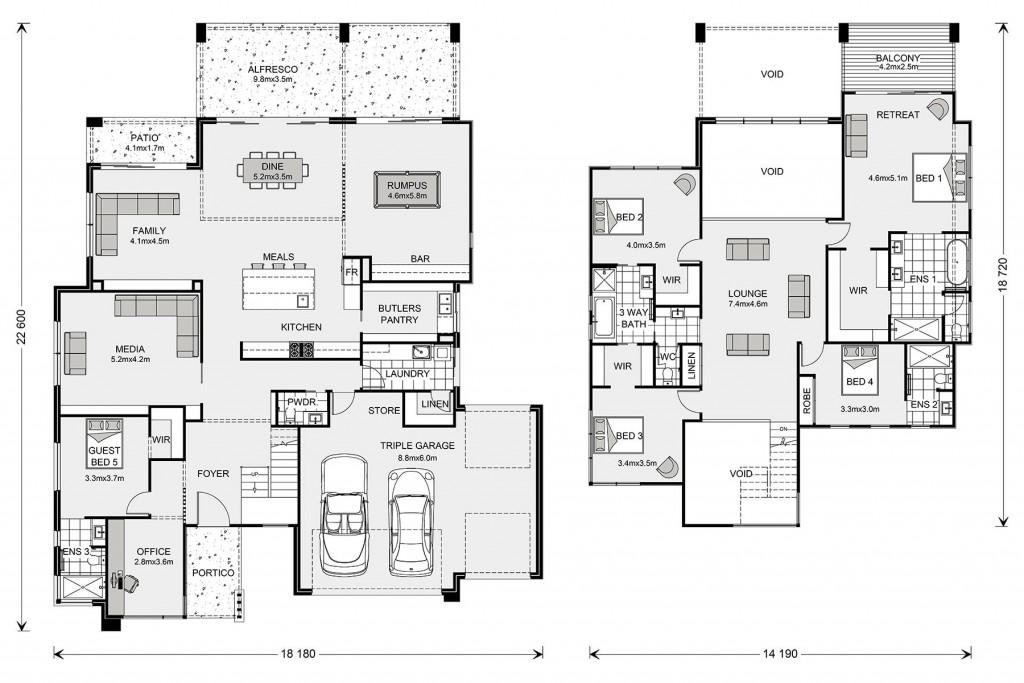 Blue Water 530 - Prestige Series Floorplan
