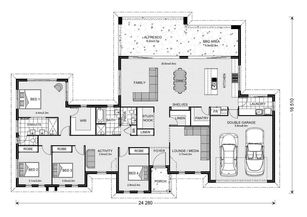 Stillwater Estate 285 - Estate Series Floorplan
