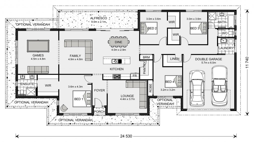 Newstead 260 - Estate Series Floorplan