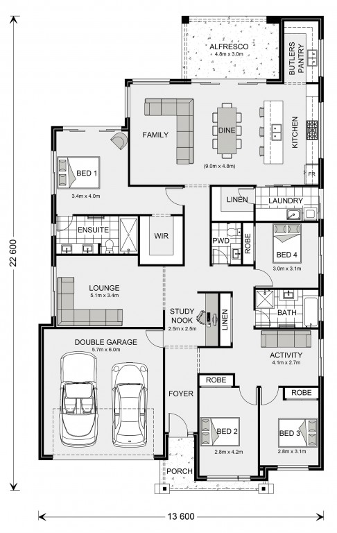 Newport 261 - Element Series Floorplan