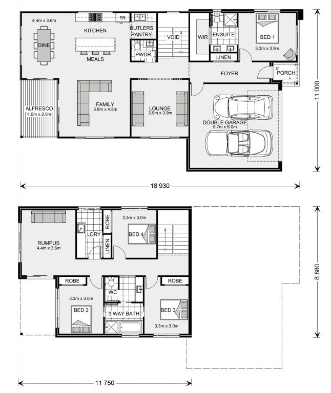 Carseldine SL 270 - Split Level Series Floorplan
