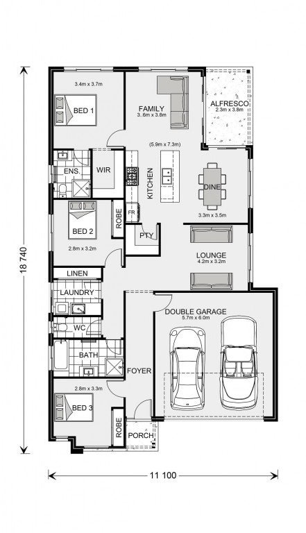 Kimberley 185 - Element Series Floorplan