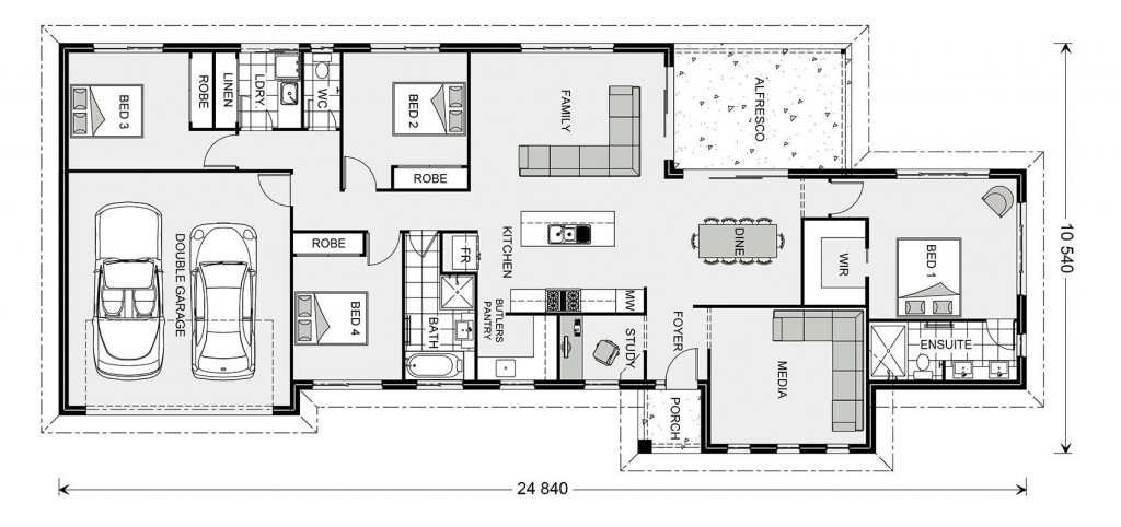 Edgewater Estate 221 - Estate Series Floorplan