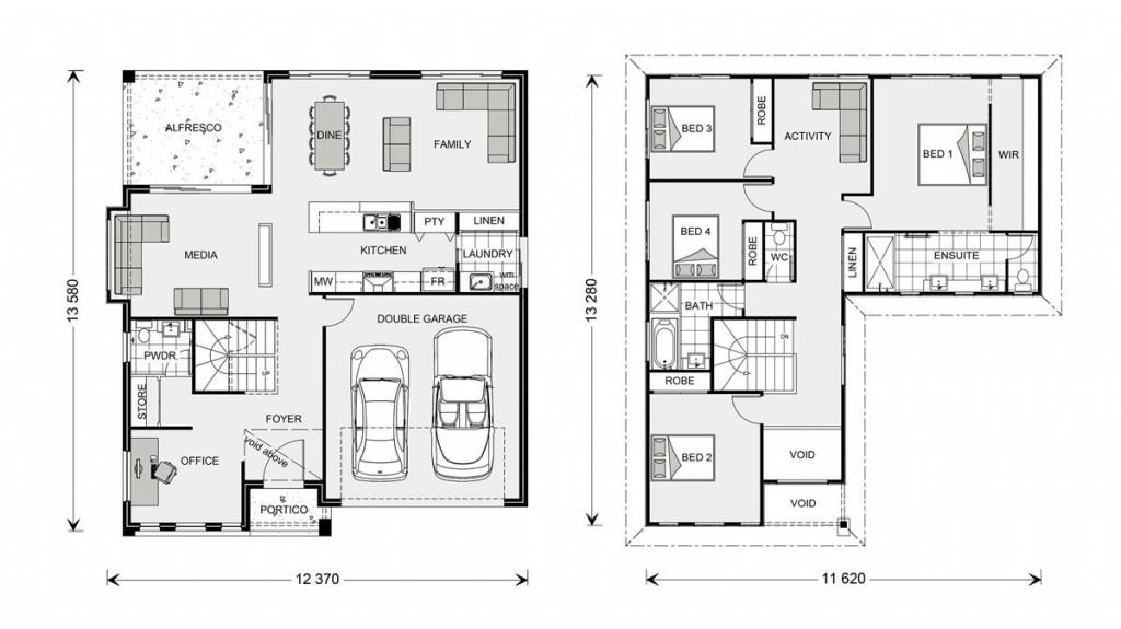Blue Water 274 - Element Series Floorplan