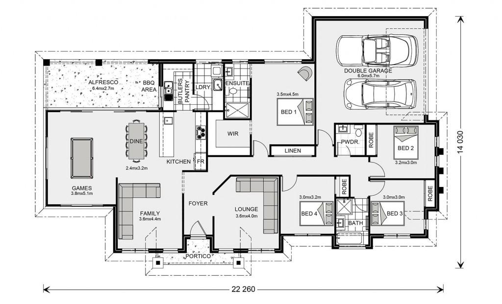 Mountain Views Estate 237 - Homestead Series Floorplan