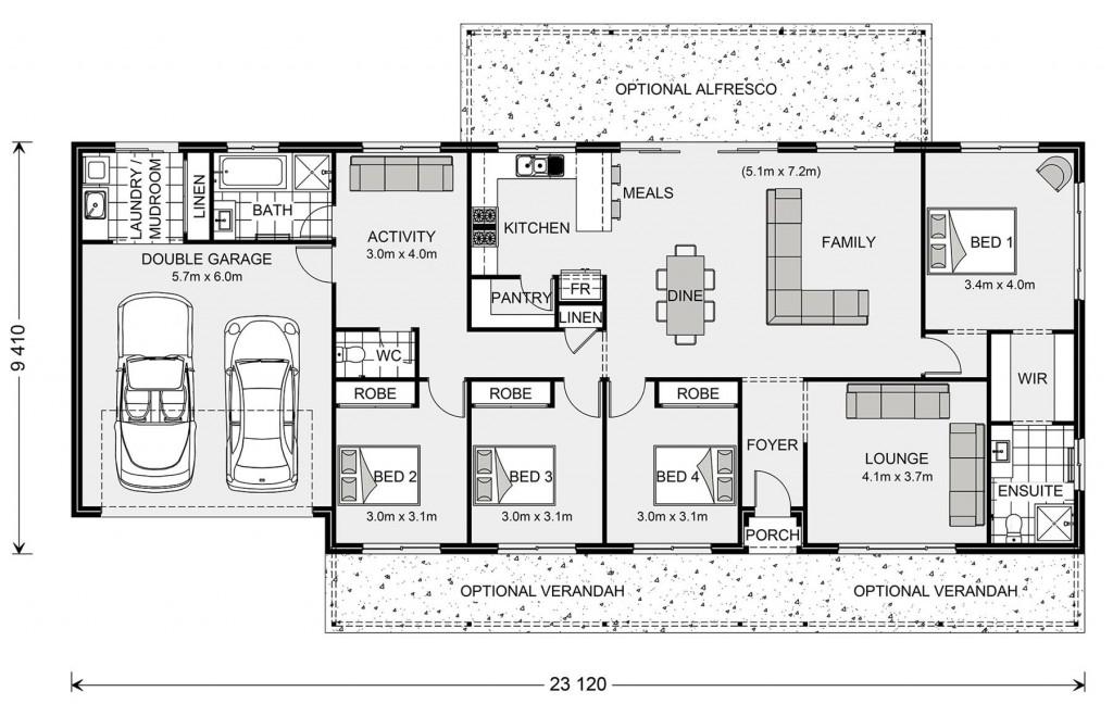 Yarraman 213 - Homestead Series Floorplan
