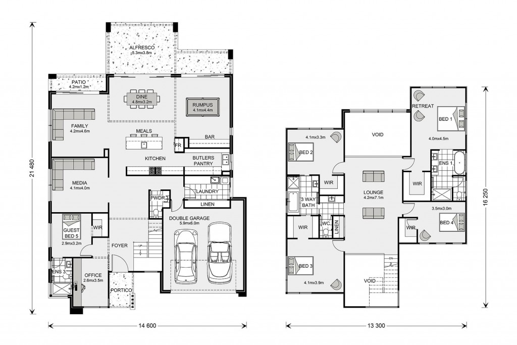 Blue Water 425 Floorplan
