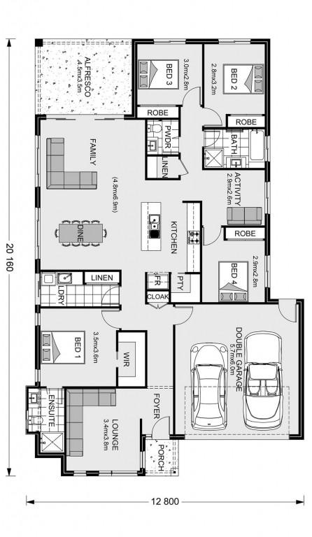 Claremont 221 - Element Series Floorplan