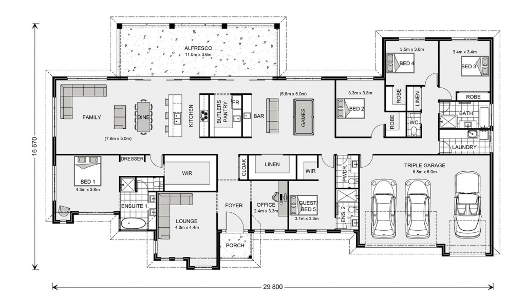 Wentworth 395 - Prestige Series Floorplan