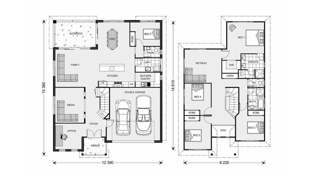 Twin Waters 300 - Element Series Floorplan