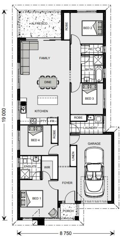 Calderwood 153 - Metro Series Floorplan