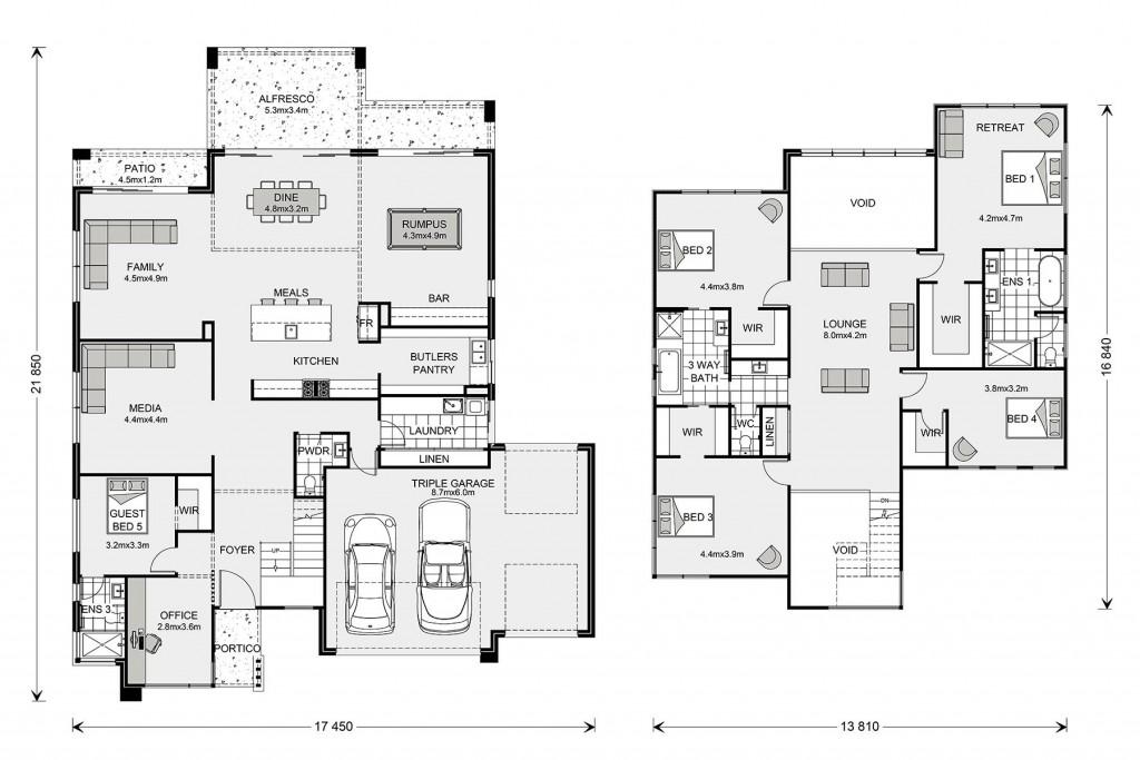 Blue Water 470 - Prestige Series Floorplan