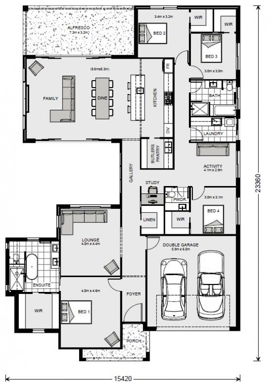Beachmere 303 Floorplan