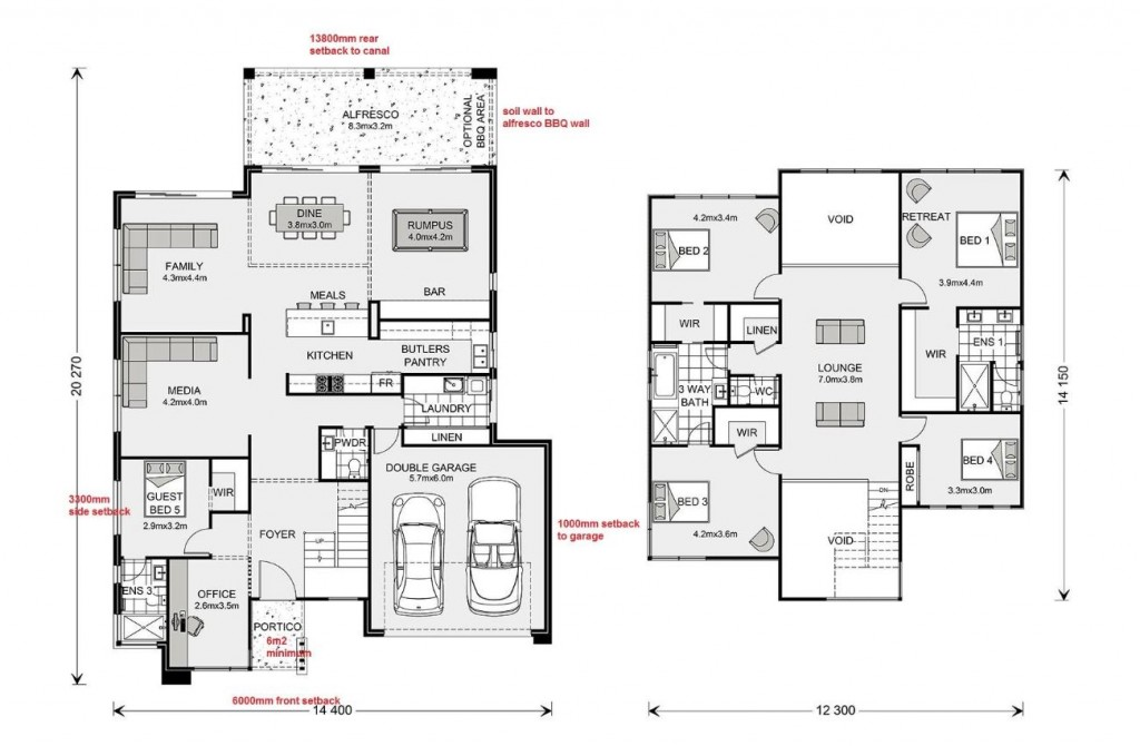 Blue Water 386 Floorplan