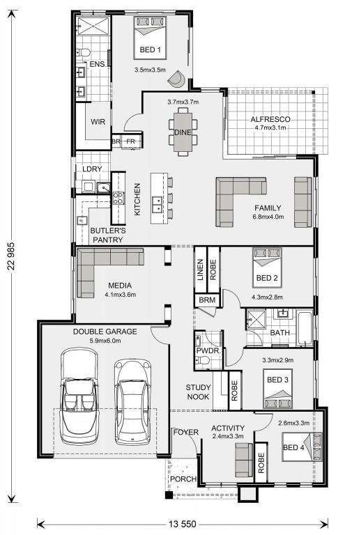 Edgewater 245 Floorplan