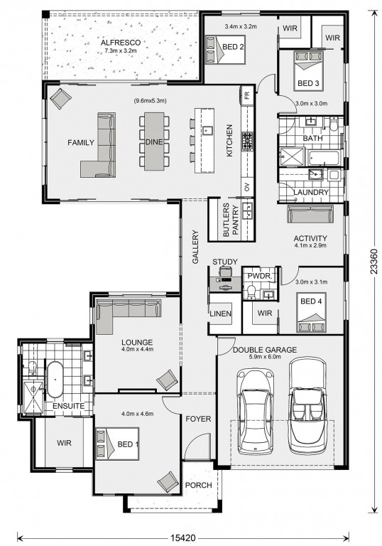 Beachmere 291 Floorplan