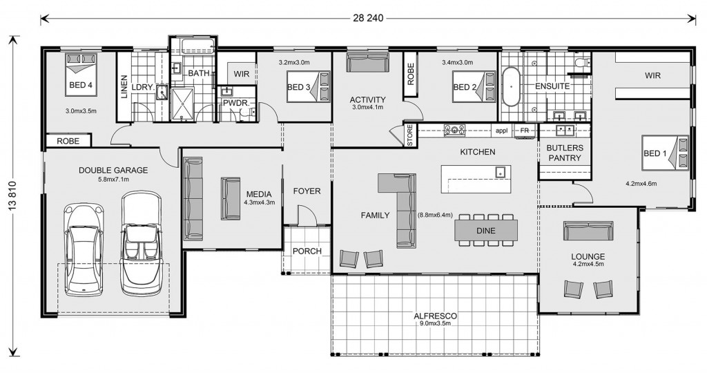 Palm Cove 319 Floorplan