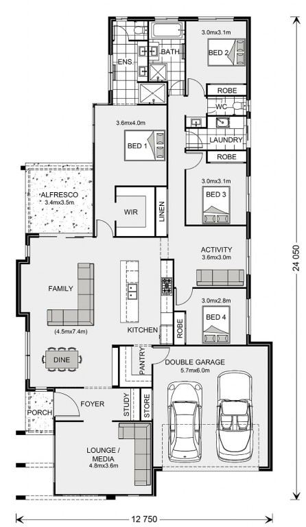 Oceanside Floorplan