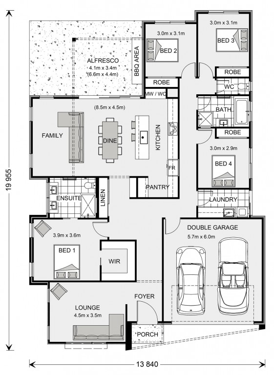 Long Island 228 Floorplan