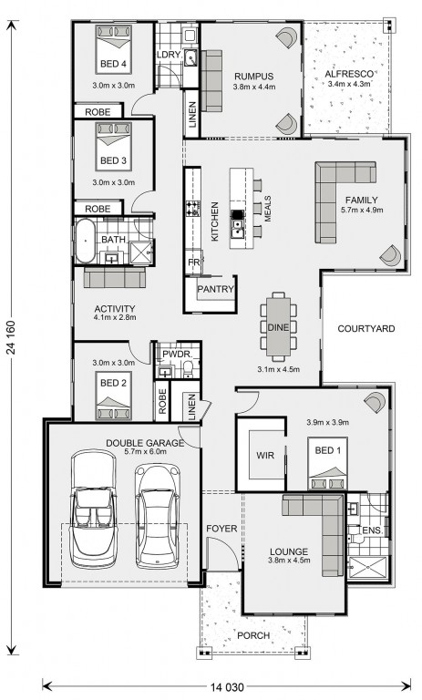 Sunbury 277 Floorplan