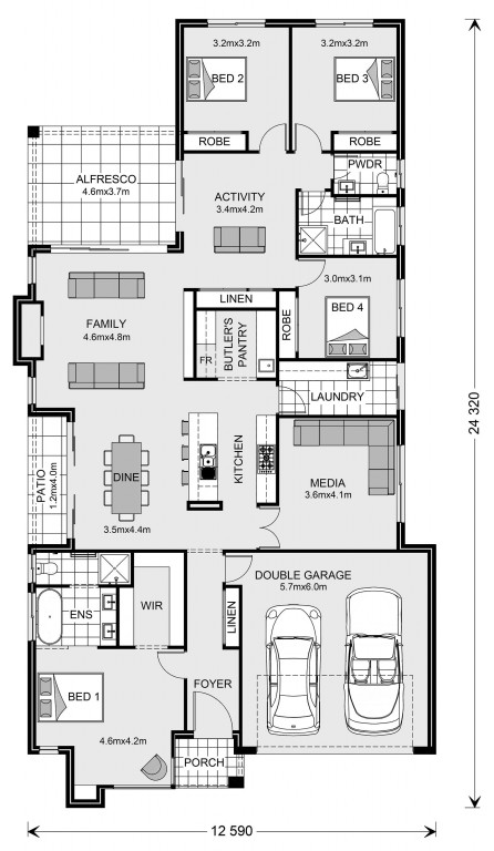 Benowa 262 Floorplan