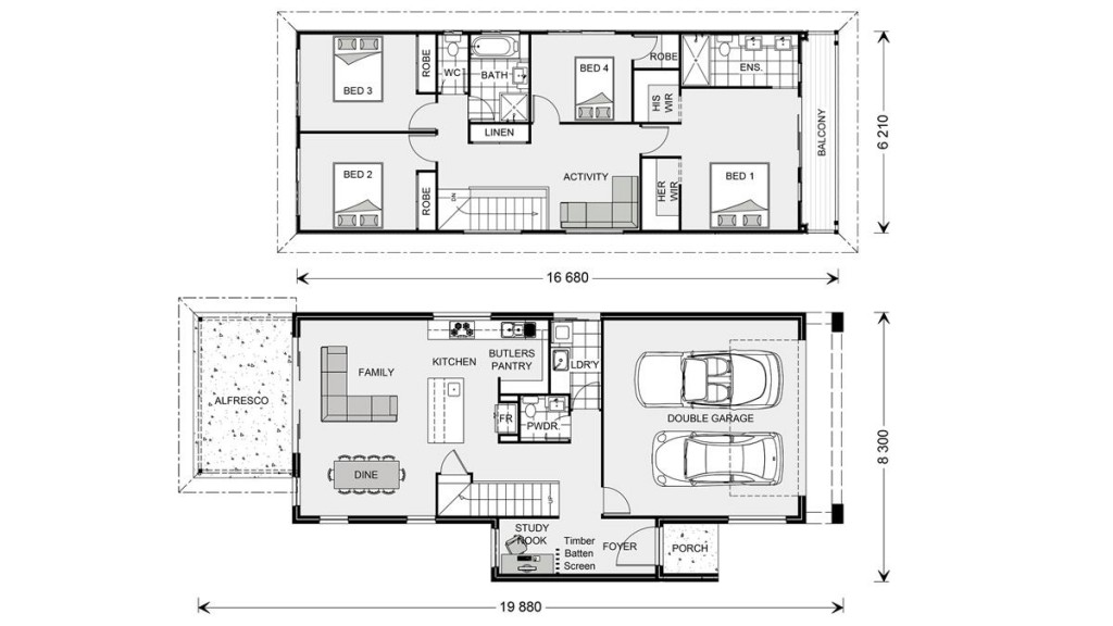 Pine Rivers 236 Floorplan