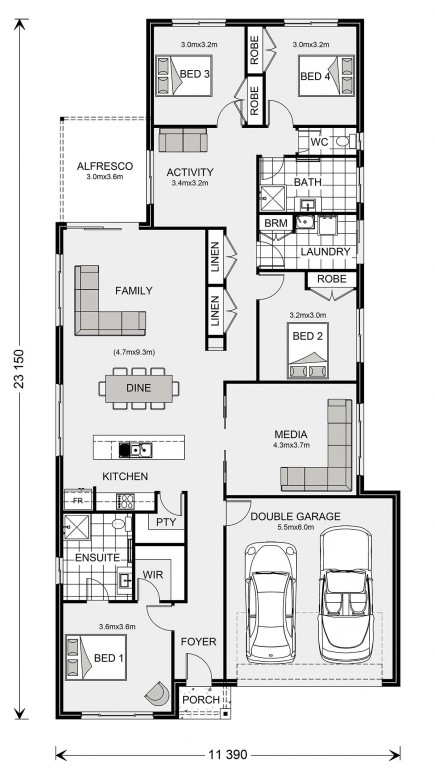 Pacific 230 Floorplan