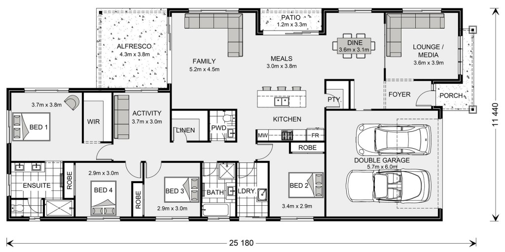 Oceanside 255 Floorplan