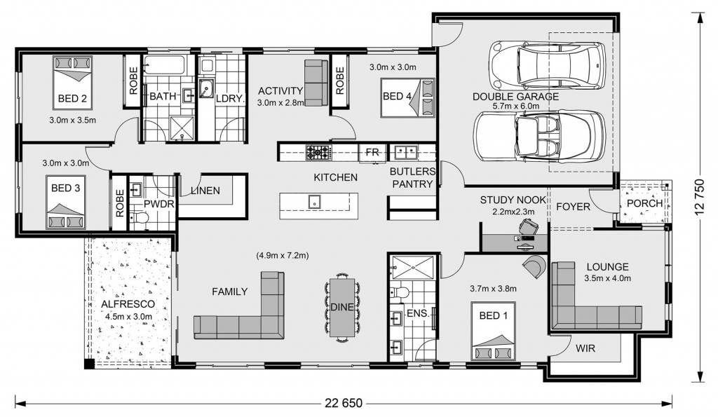 Claremont 240 Floorplan