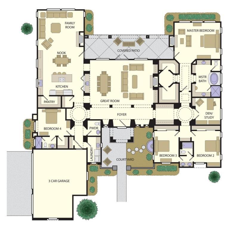 Courtyard 4100 Floorplan
