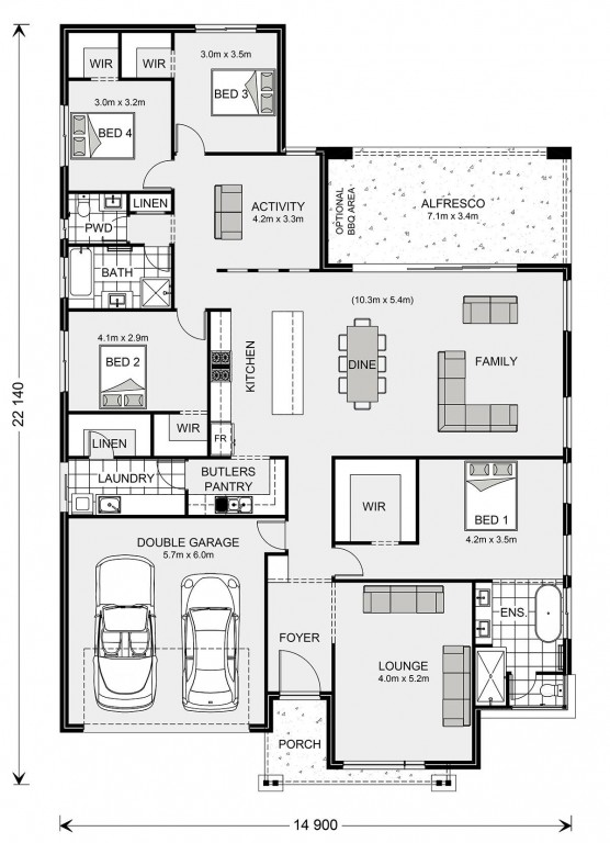 Vista 285 Floorplan