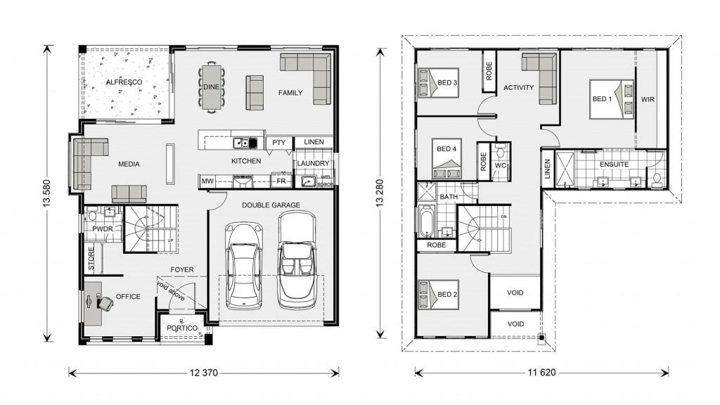 Blue Water 274 Floorplan