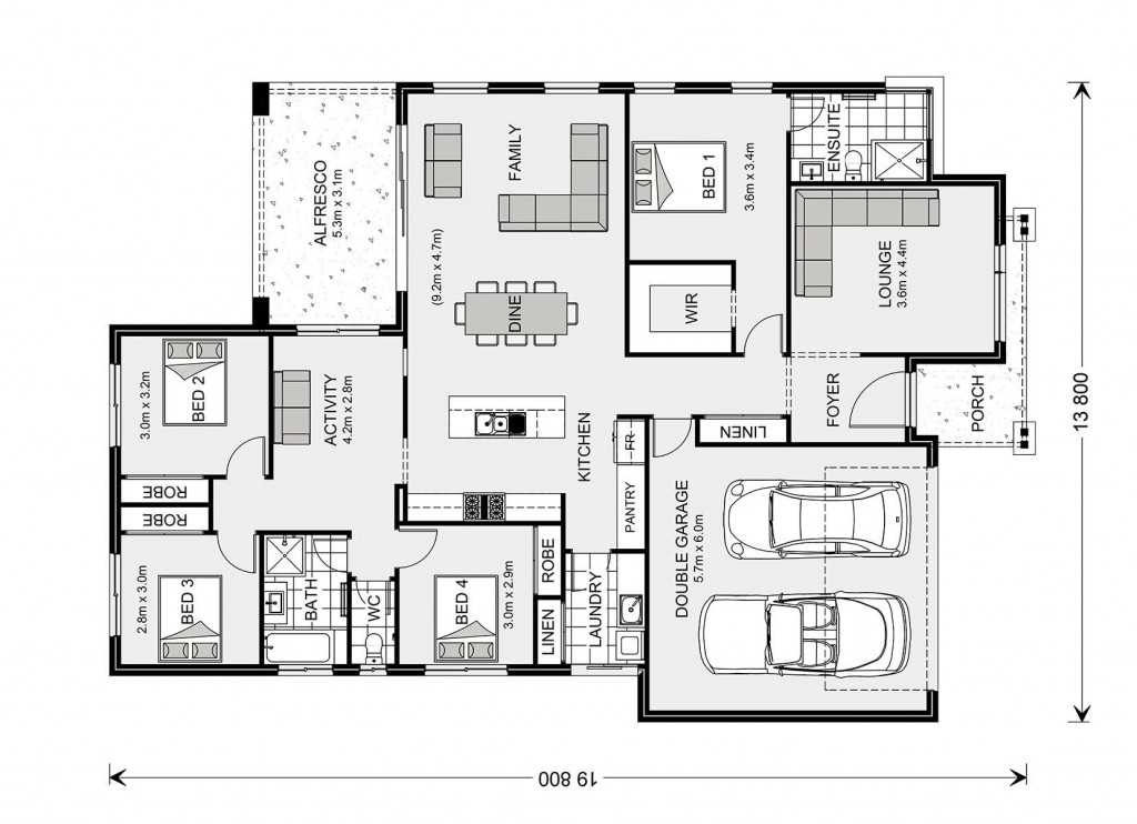 Vista 230 Floorplan