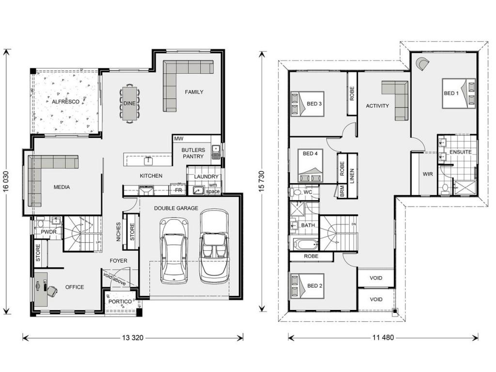 Blue Water 323 Floorplan