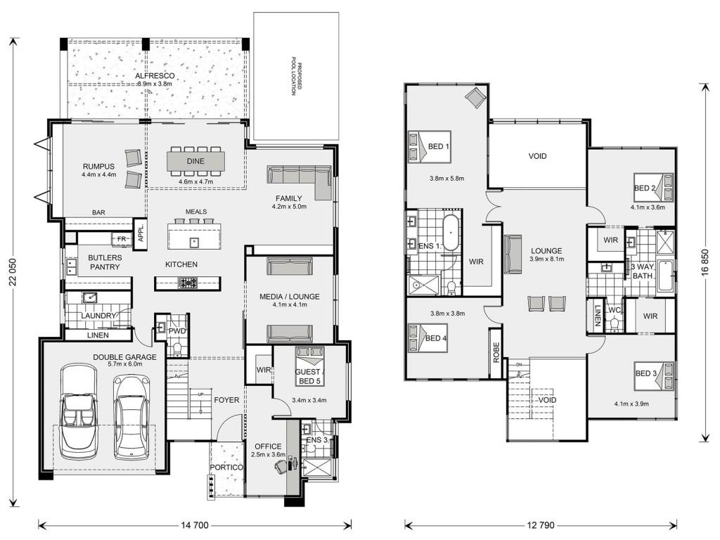 Blue Water 440 Floorplan