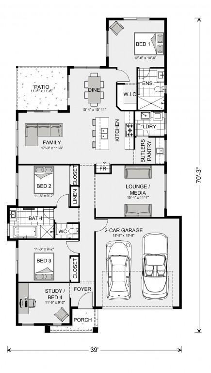 Edgewater 1600 Floorplan