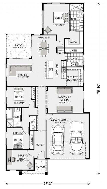 Edgewater 1774 Floorplan