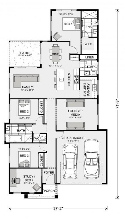 Edgewater 1665 Floorplan