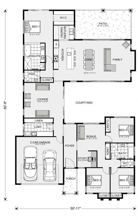 Mandalay 2387 Floorplan