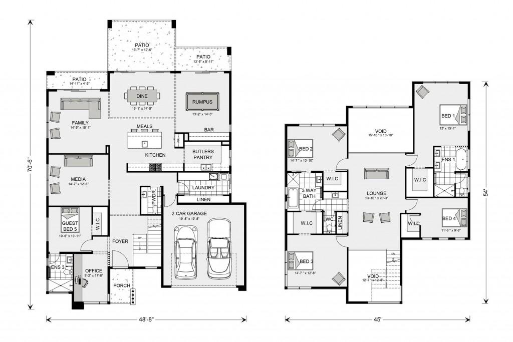 Blue Water 3487 Floorplan