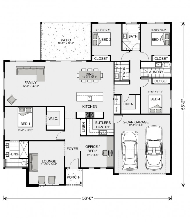 Wide Bay 2127 Floorplan