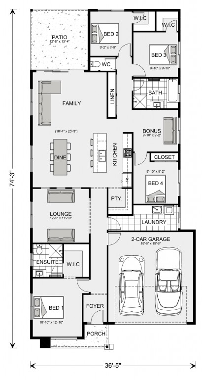 Bridgewater 1827 Floorplan