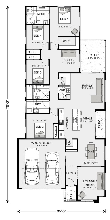 Oceanside 1813 Floorplan