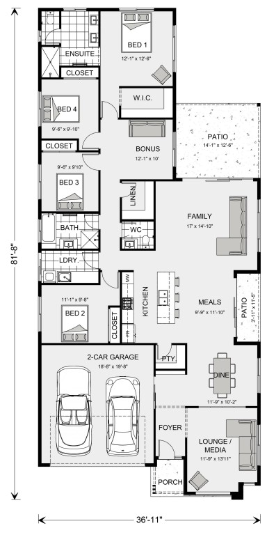 Oceanside 2054 Floorplan