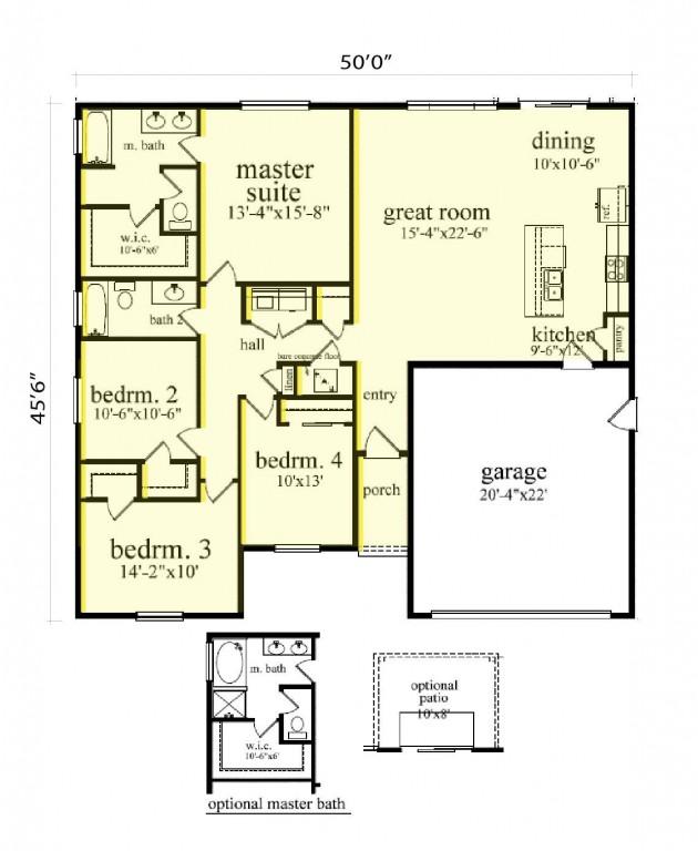 Lexington 1698 Floorplan