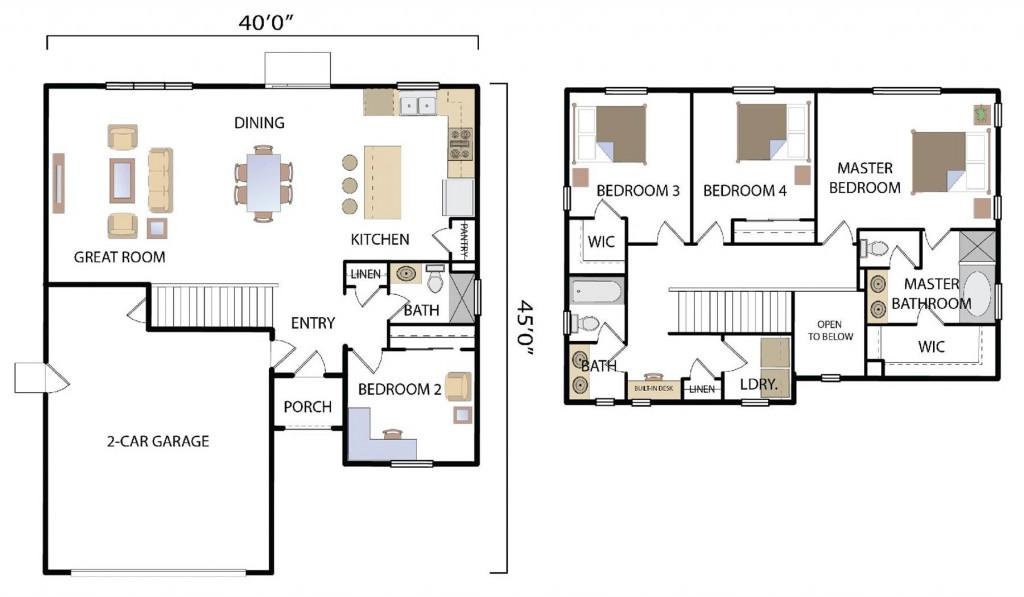 Oakwood 2080 Floorplan