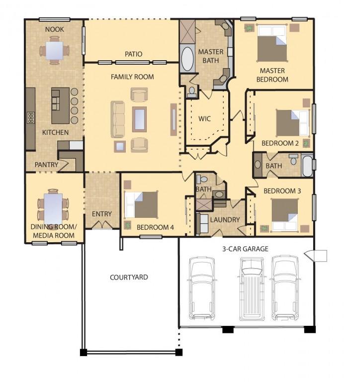 Birch 3001 Floorplan