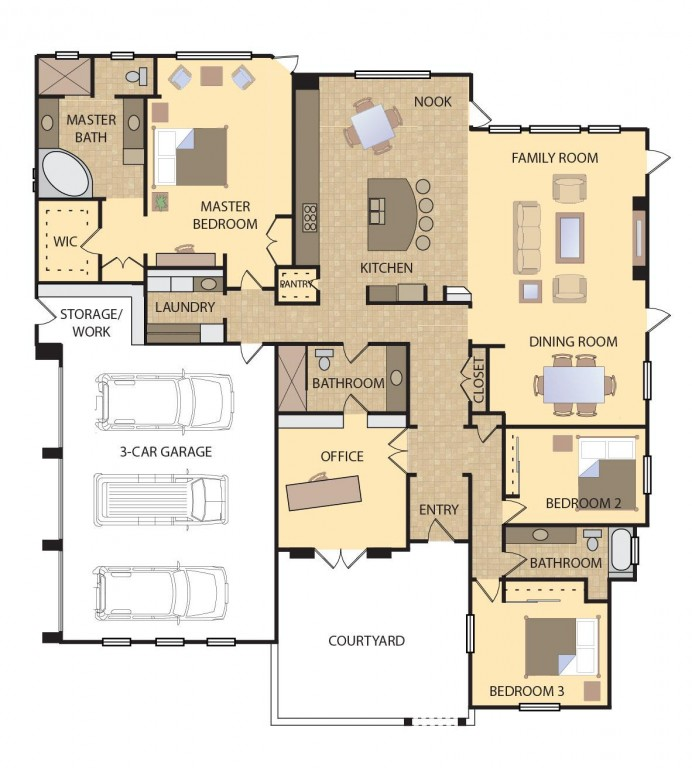 Maple 2845 Floorplan